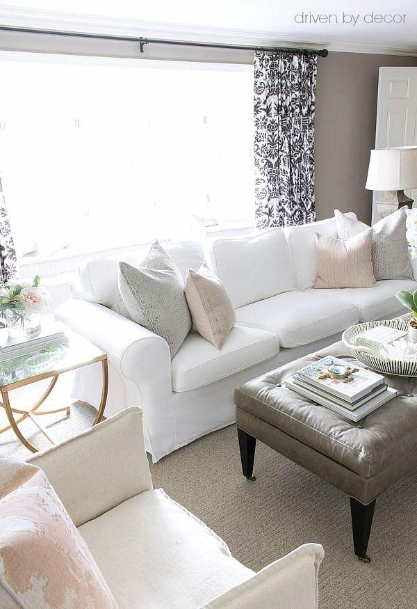 Decked \ Styled Spring House Tour Ektorp sofa, Pillows and Gray - ikea ektorp gra