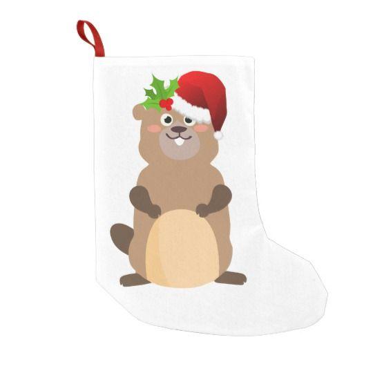 Santa Claus christmas gopher stocking