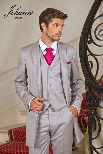 Costume redingote en laine extra-fine gris perle 5d71d0c7d12