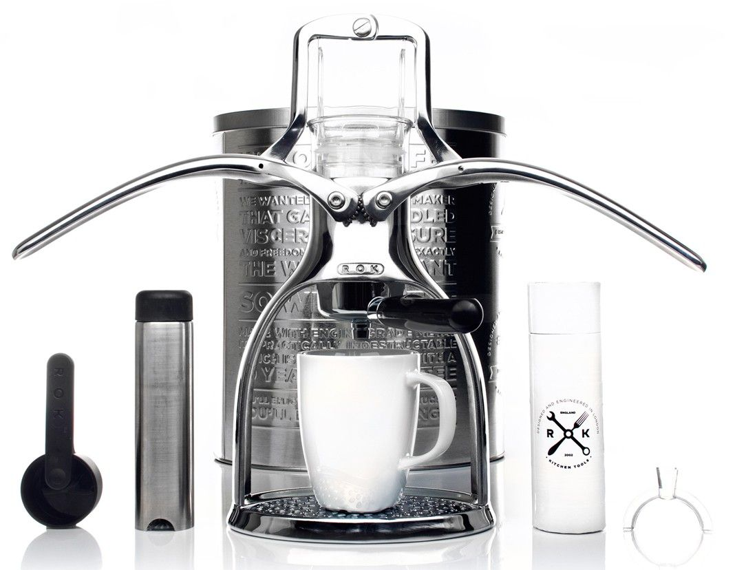 Non electric rok espresso is environmentally friendly gadget brew coffee of your choice with rok manual espresso maker no electricity required fandeluxe Images