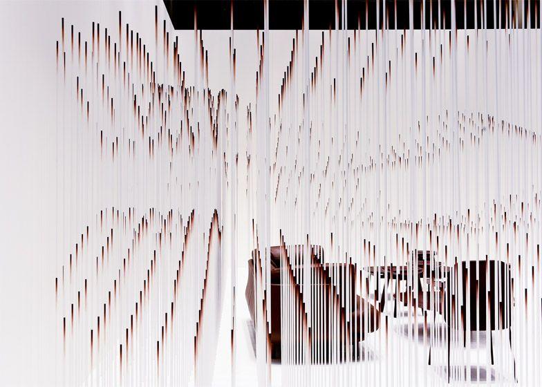 Nendo creates chocolatey waves for Maison&Objet installation.