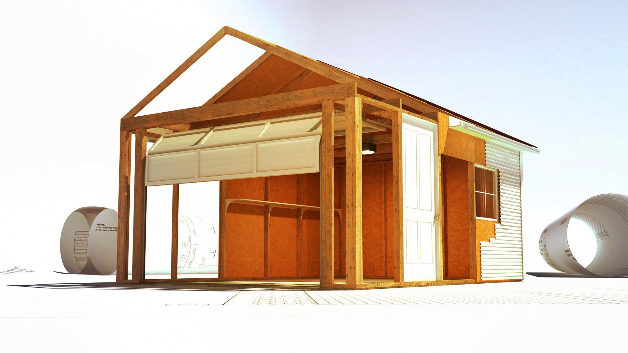 Shed Plans Buy or Build Building a garage, Building a