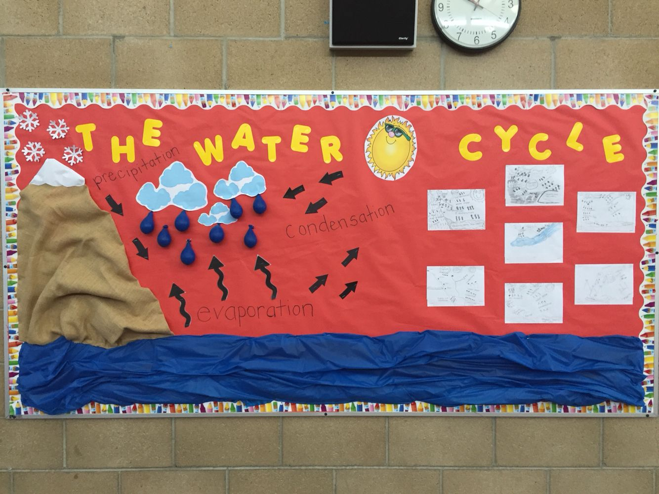 The Water Cycle Board I Did For My 5th Grade Class