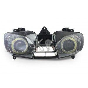 Yamaha R6 Angel Eye Hid Projector Custom Headlight Assembly 1999 2000 2001 2002 Custom Headlights Yamaha R6 Headlight Assembly