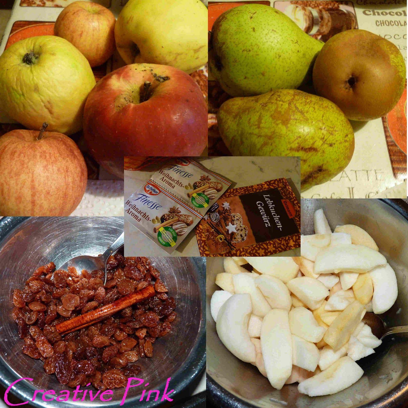 Creative Pink Bratapfel Weihnachtsmarmelade Weihnachtsmarmelade Gebratene Apfel Rezepte