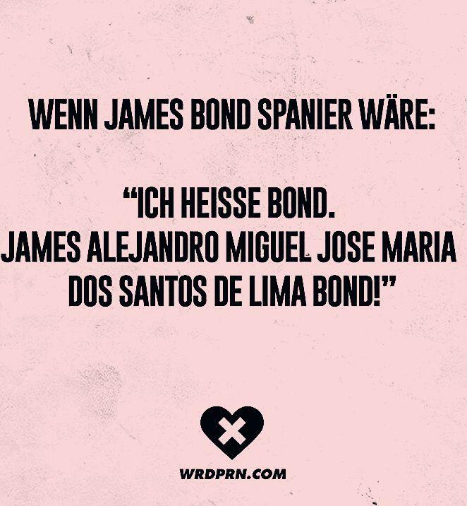 "Photo of Wenn James Bond Spanier wäre: ""Ich heisse Bond. James Alejandro Miguel Jose Maria Dos Santos de Lima"