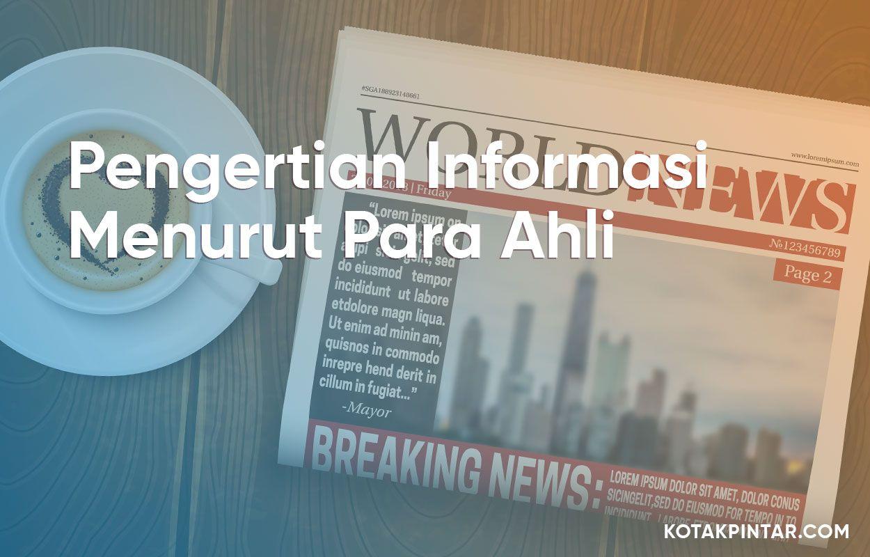 Pengertian Informasi Menurut Para Ahli Diagram Sistem Manajemen Pengetahuan Real Estate Dalam Bahasa Indonesia
