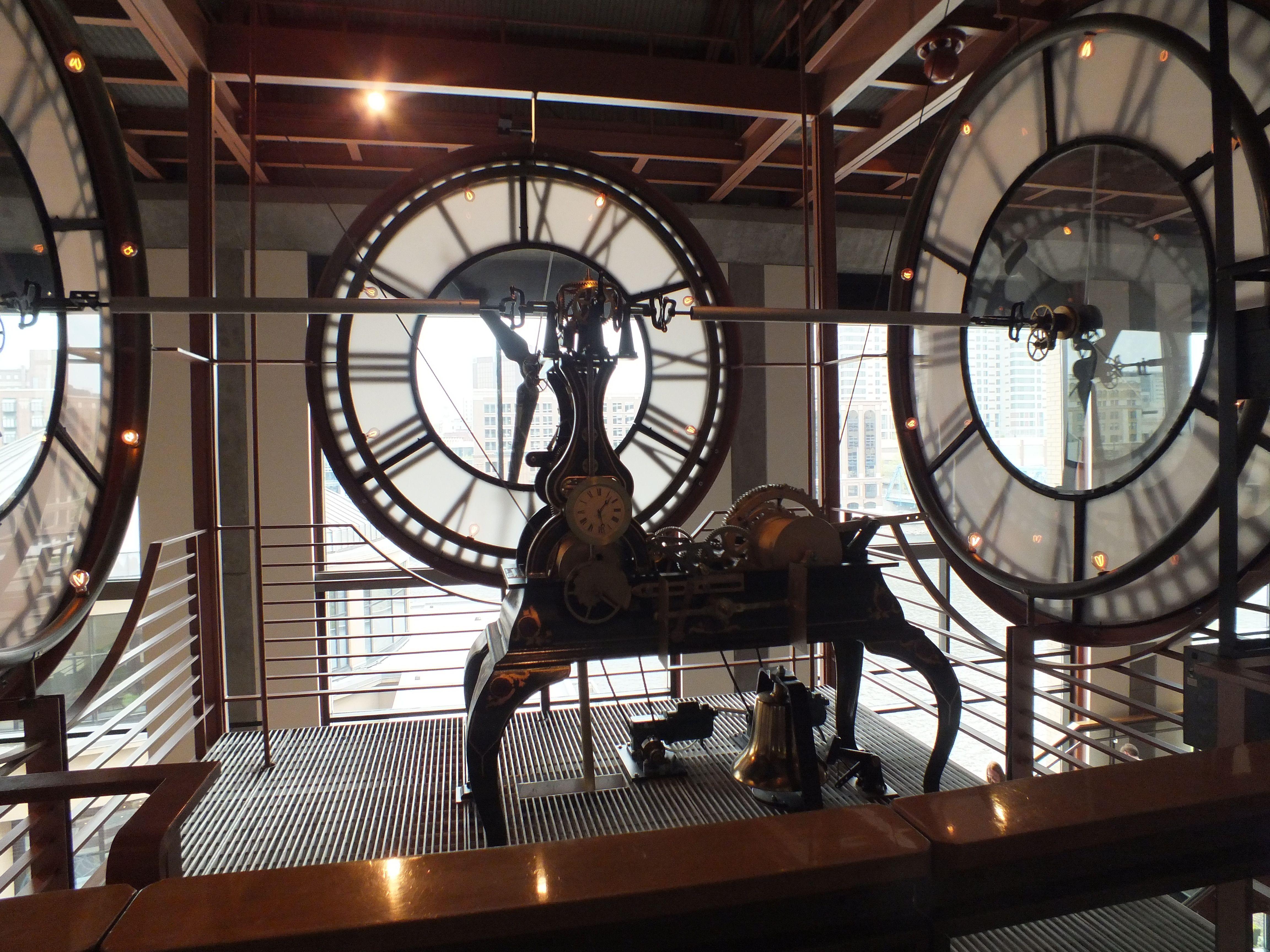 Clock works inside GR Museum -- Laurie Vanderzee | My town