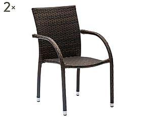 Sedie Marroni ~ Set di sedie in alluminio paradise marrone cm