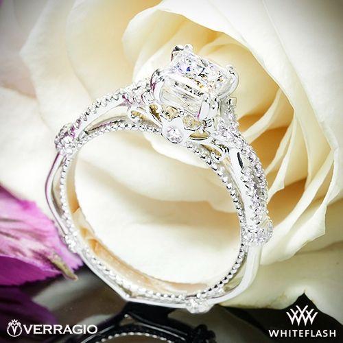 d2a965153227e 14k White Gold Verragio Parisian DL-105 Braided Diamond Engagement ...