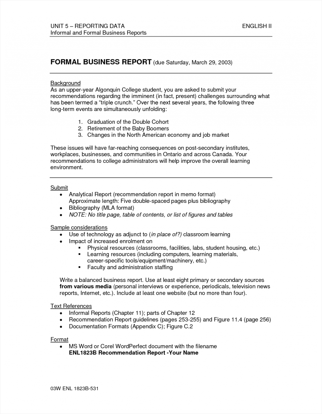 Best Photos Formal Report Sample Writing Analytical Example Via