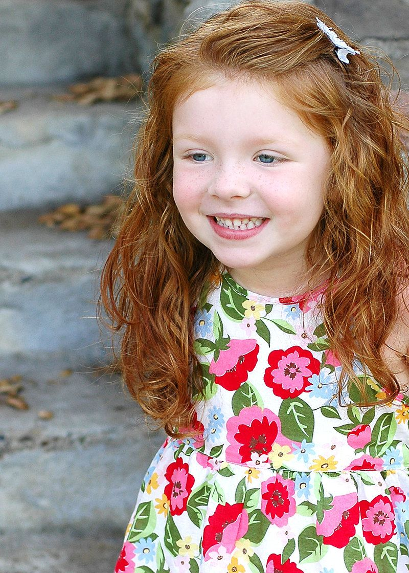 momma's baby girl.most beautiful red headed child born was you