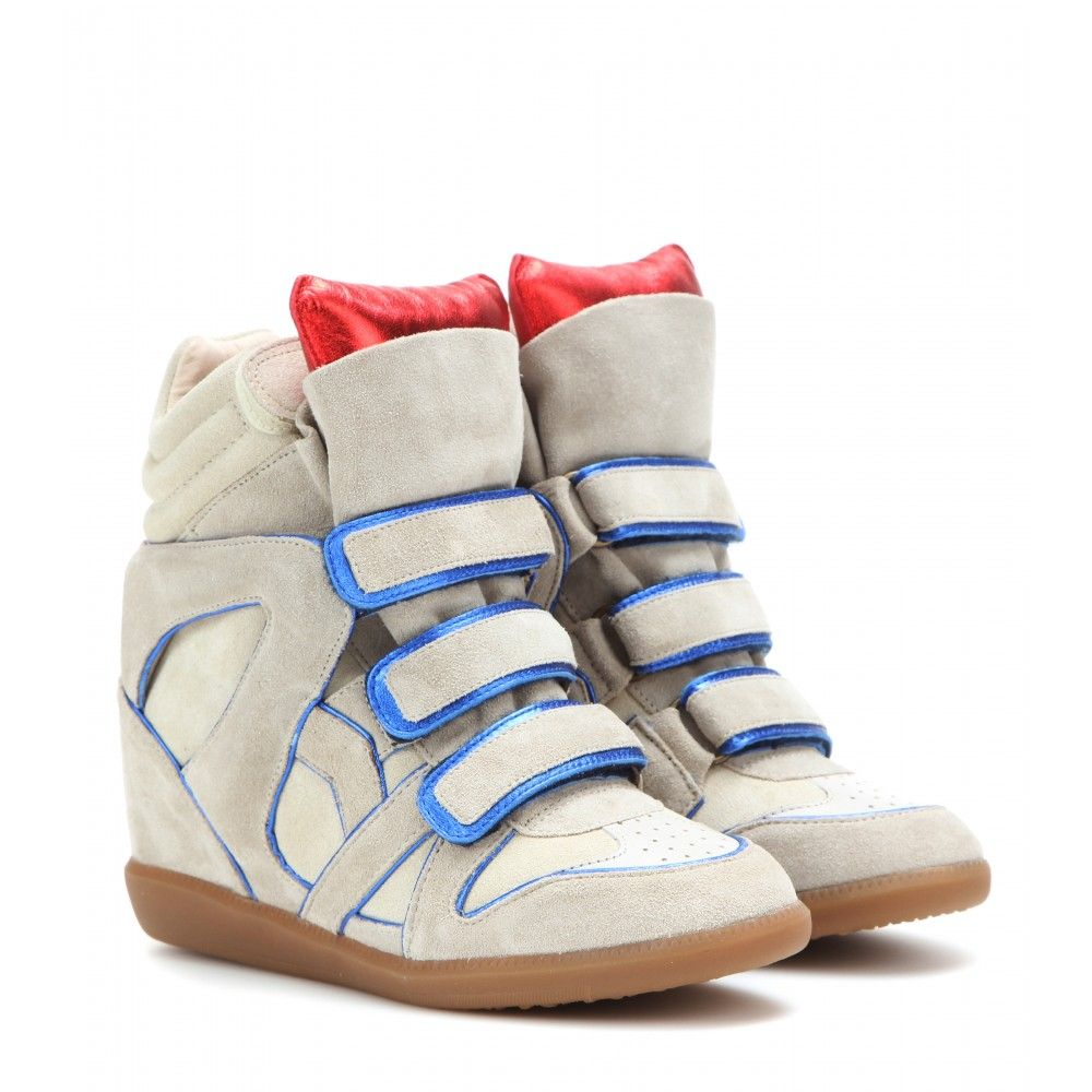 348450d65f Isabel Marant - Wila Concealed Wedge Suede Sneakers - Allow us to present  this season's update