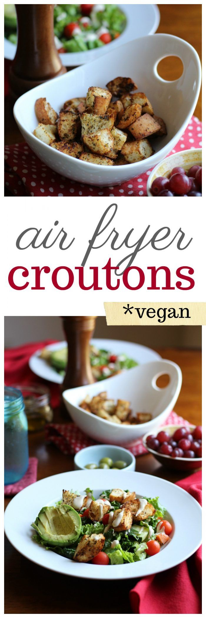 Air Fryer Vegan Croutons