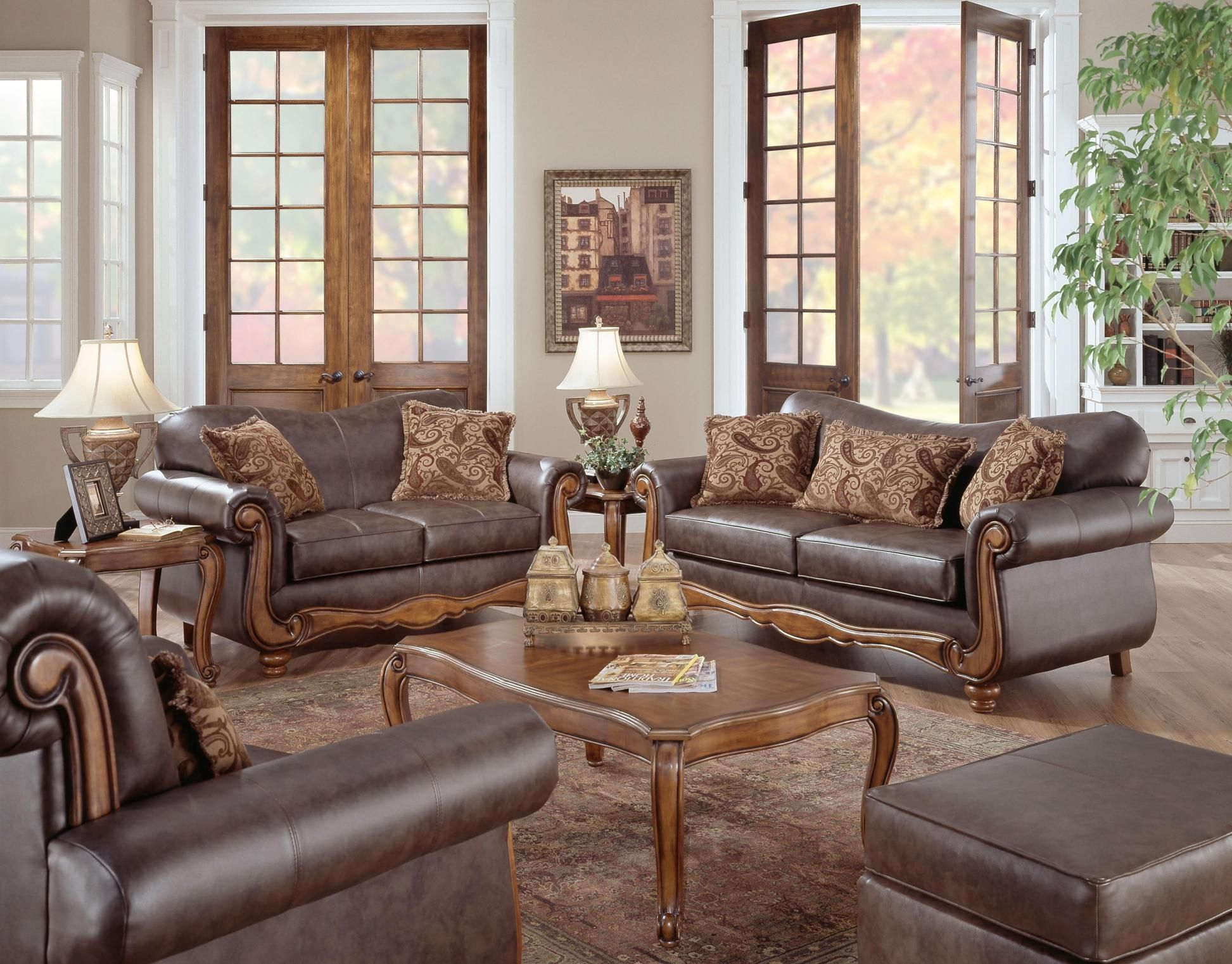 42 Stunning Traditional Living Room Furniture   Leather ...