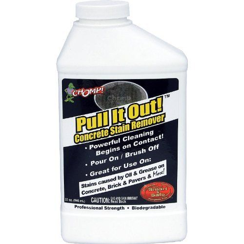chomp pull it out concrete stain remover 32oz (pack 2)chomp