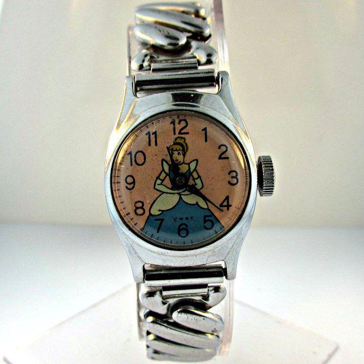 Vintage US Time Cinderella Stainless Steel Children's Watch (3005266CB)