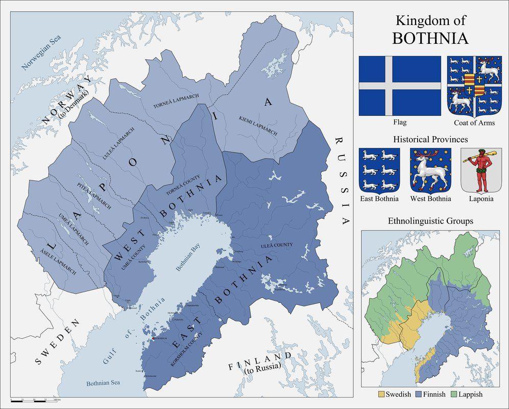 Kingdom Of Bothnia By Fenn O Manic On Deviantart Imaginary Maps Alternate History Historical Maps