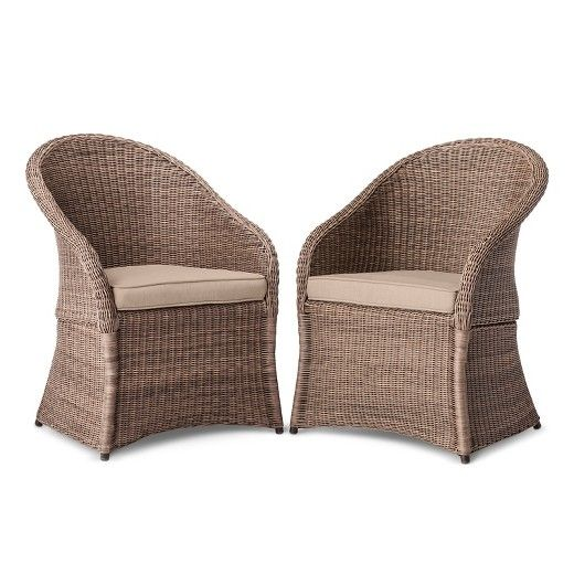 Holden 2 Piece Wicker Patio Dining Chair Set Threshold Target Wicker Dining Chairs Patio Dining Chairs Dining Chair Set All weather wicker dining chairs