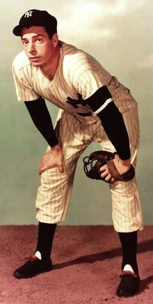 """Joe DiMaggio (November 25, 1914 – March 8, 1999), nicknamed """"Joltin' Joe"""" and """"The Yankee Clipper"""", was an American Major League Baseball center fielder who played his entire 13-year career for the New York Yankees. He is perhaps best known for his 56-game hitting streak (May 15 – July 16, 1941), a record that still stands."""