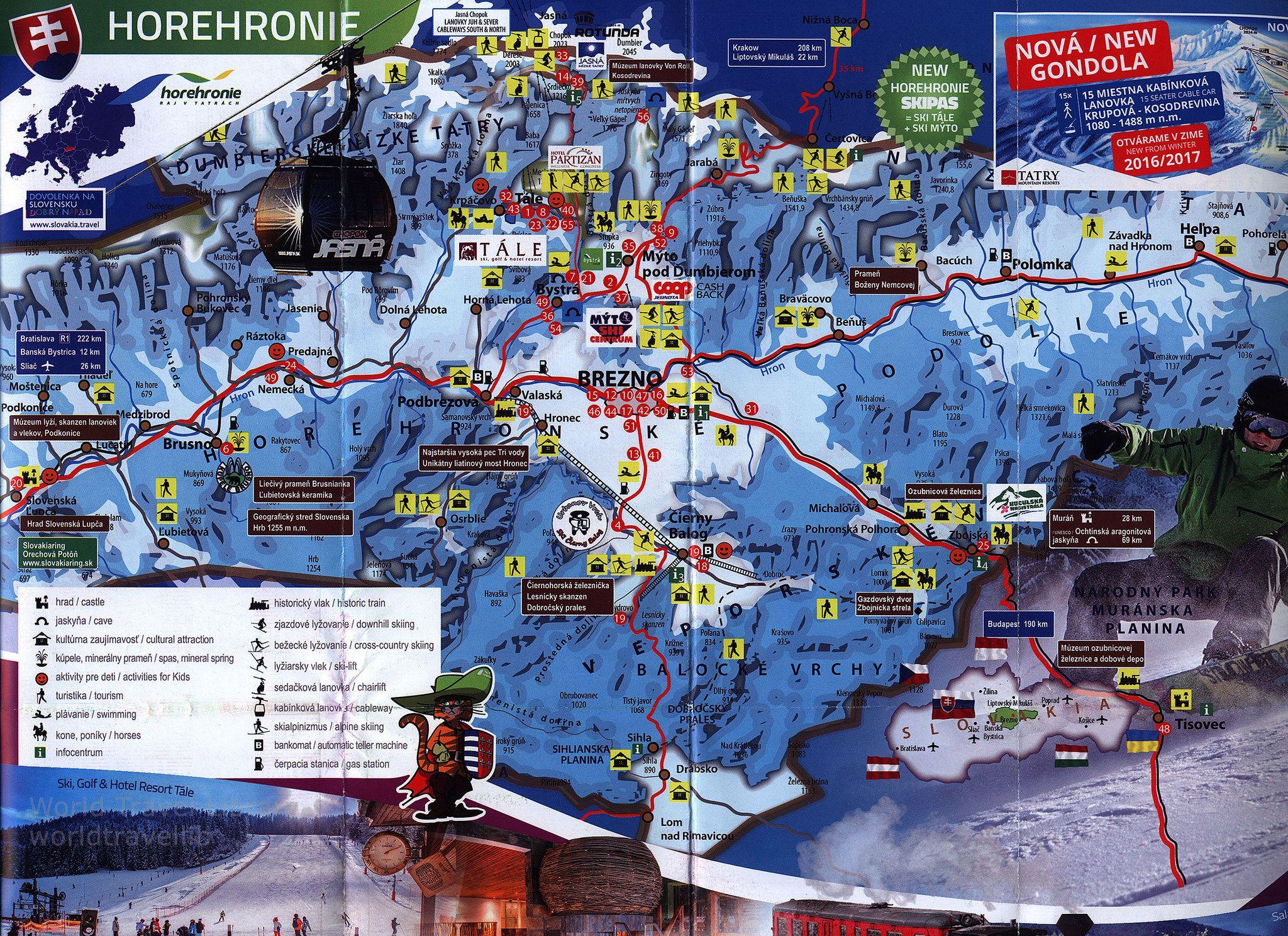 httpsflickrpUNuf2e Region Horehronie Slovakia Mapa