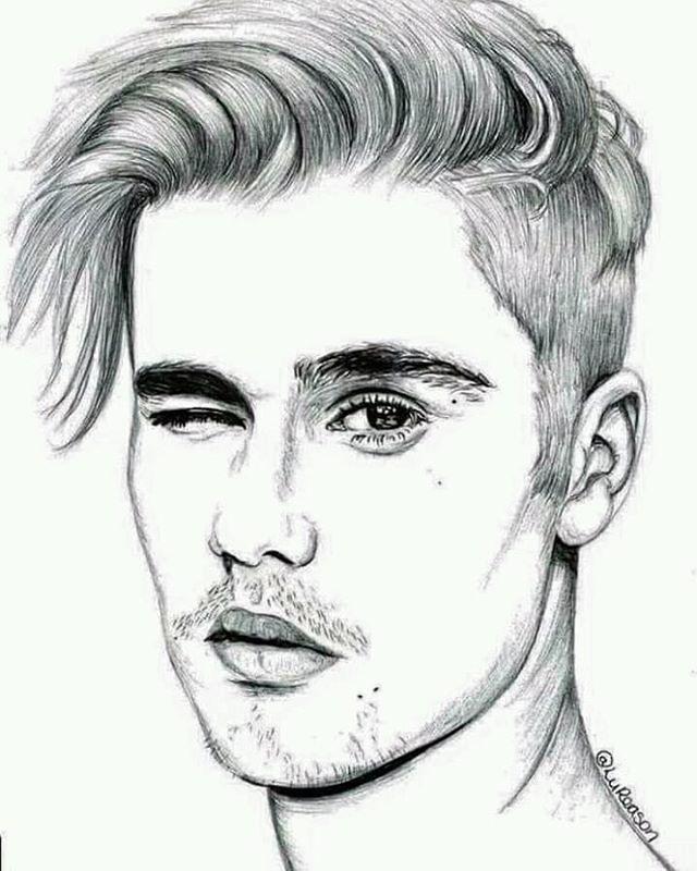 Картинки для срисовки в стиле арт легкие парней лицо