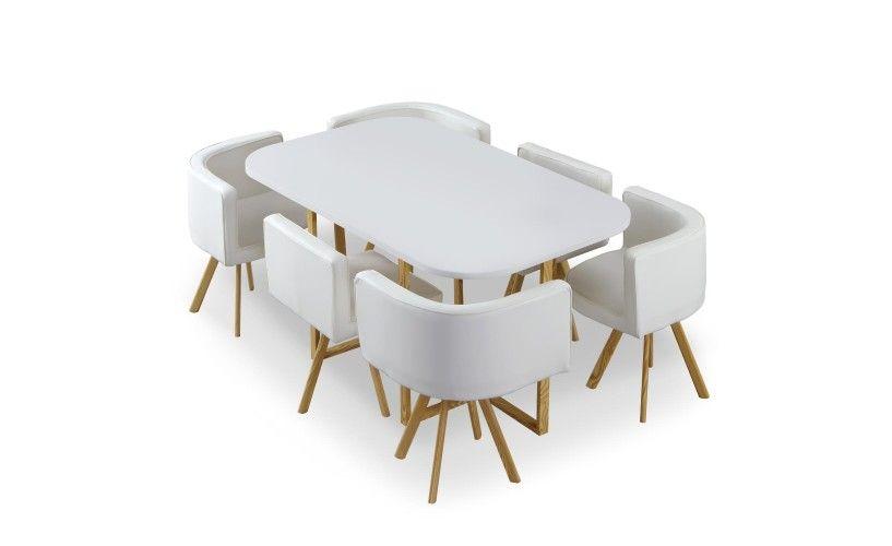 Table Et Chaises Oslo Xl Blanc Et Simili Blanc Chaise Oslo
