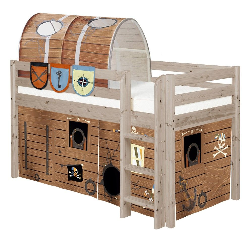 Flexa Tent Bed.Curtain Pirate In 2019 Kid Beds Mid Sleeper Bed Bed