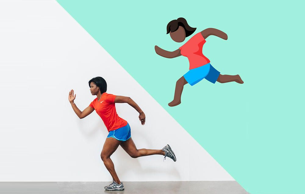 It S A Girl Facebook Unveils Female Runner Emoji Female Runner Female Emoji