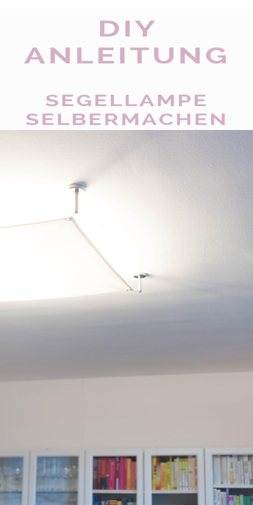 Deckenlampe Selber Bauen Anleitung : diy segellampe selber machen lichtsegel ikea lampen ~ Watch28wear.com Haus und Dekorationen