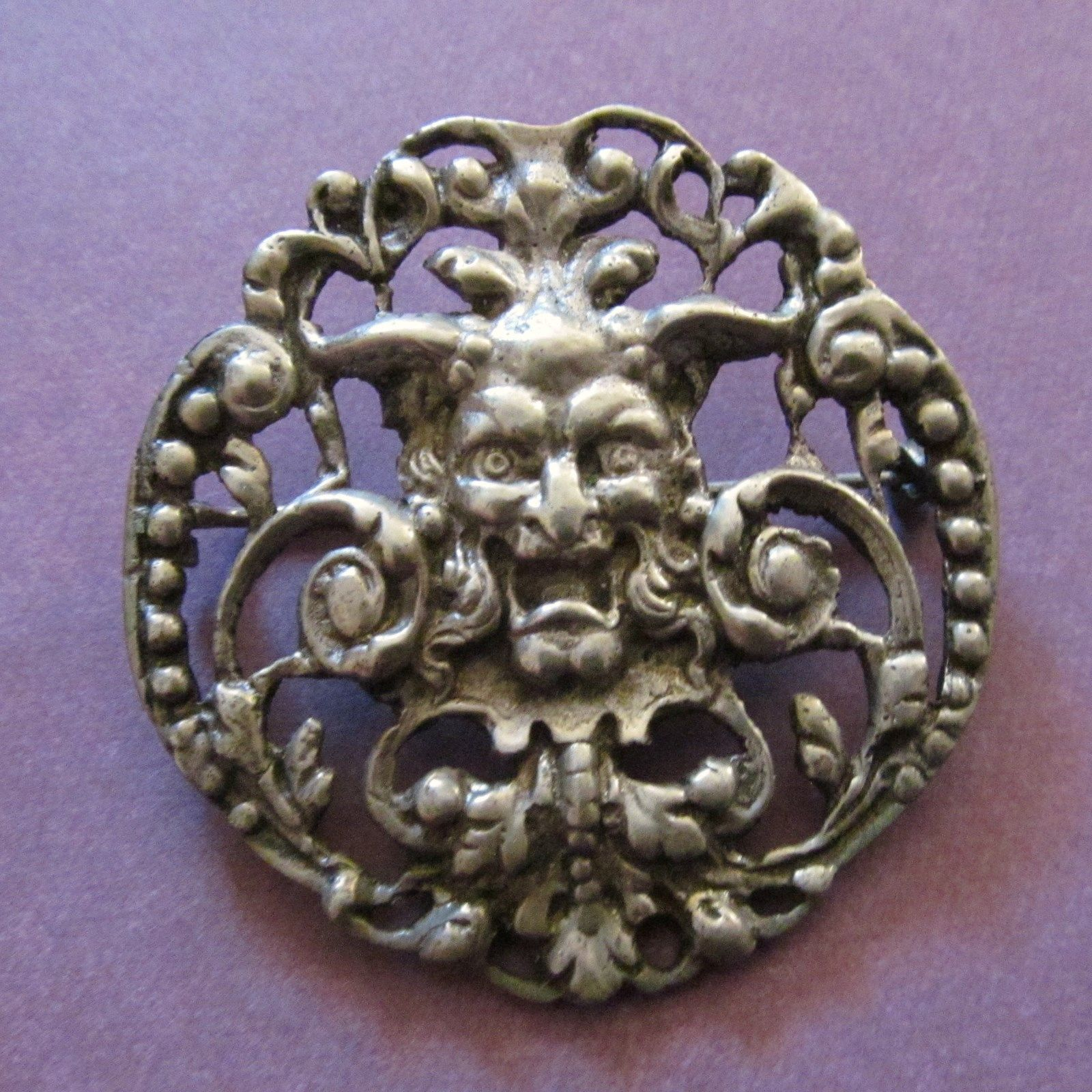 Antique 800 Silver Florentine Brooch by Peruzzi | BEJEWELED