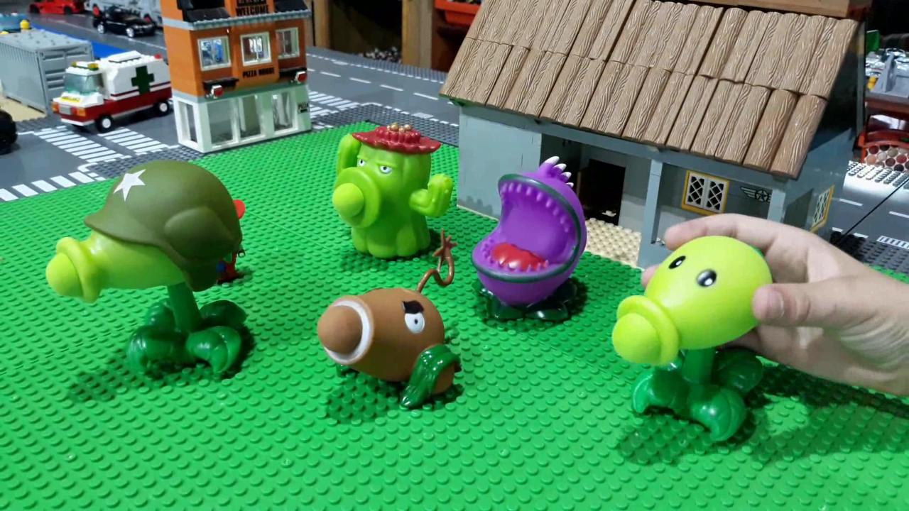 Toys Plants Vs Zombies Igra Strelyat Po Zombi Plants Vs Zombies Lego Zombie