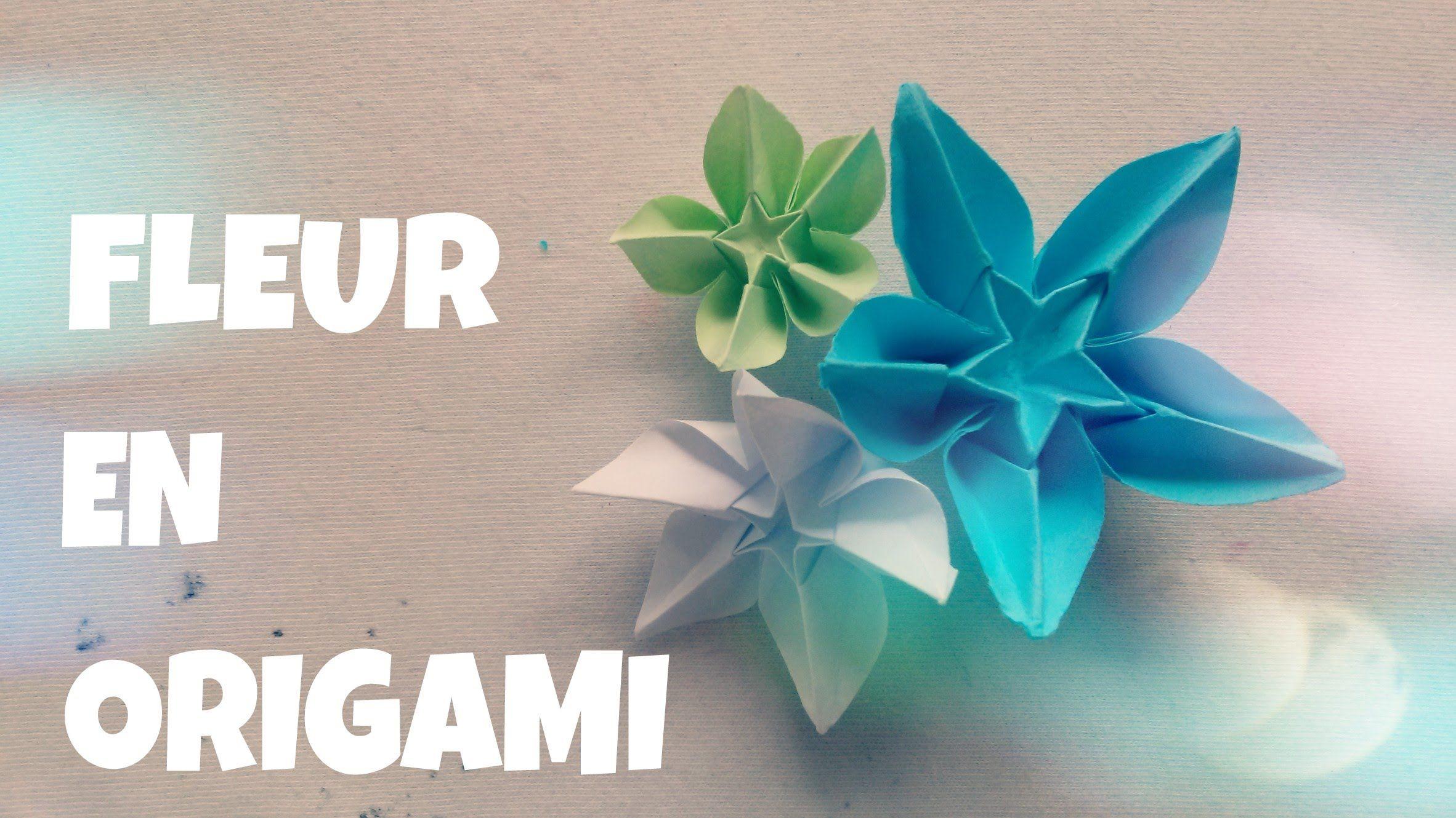 Comment Faire Une Fleur En Papier Fleur En Origami Facile Fleur