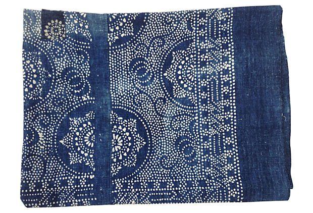 Indigo Floral Batik Bedcover on OneKingsLane.com