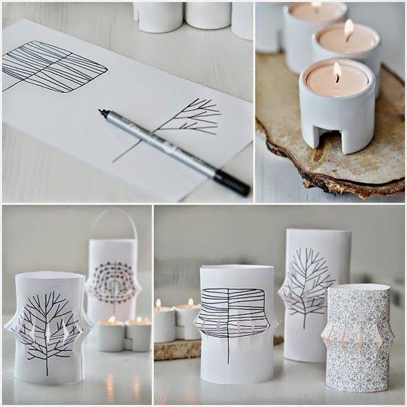 Un diy para hacer farolillos de papel faroles decoracion facilisimo y papel - Farolillos para velas ...