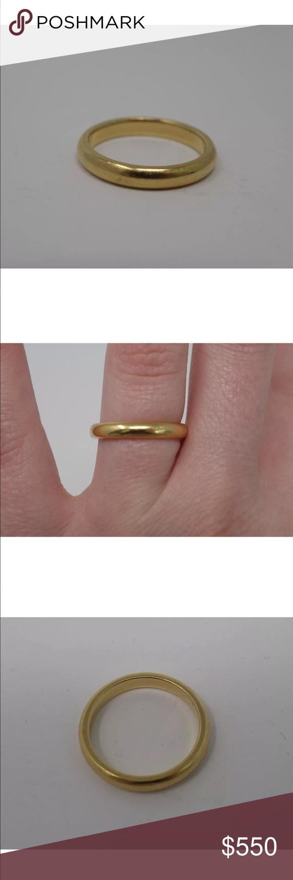 TIFFANY & CO. 18K Yellow Gold Wedding Band Ring 18k