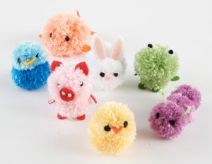 Lion Brand® Pom-Pom Animals #pompom #craft