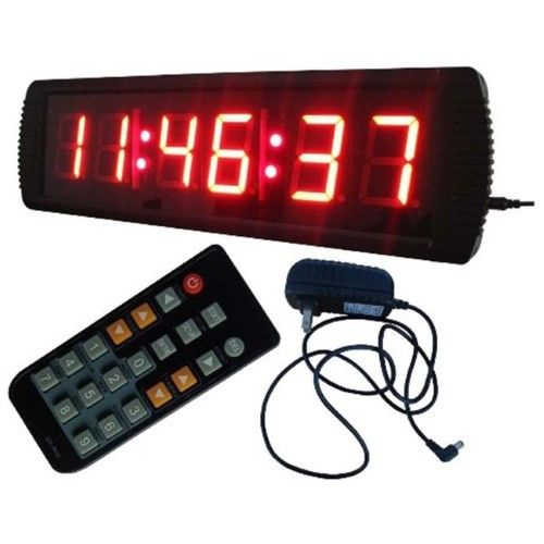 DLC IN6T3R 3 in. 6 Digits LED Digital Clock, Red Led
