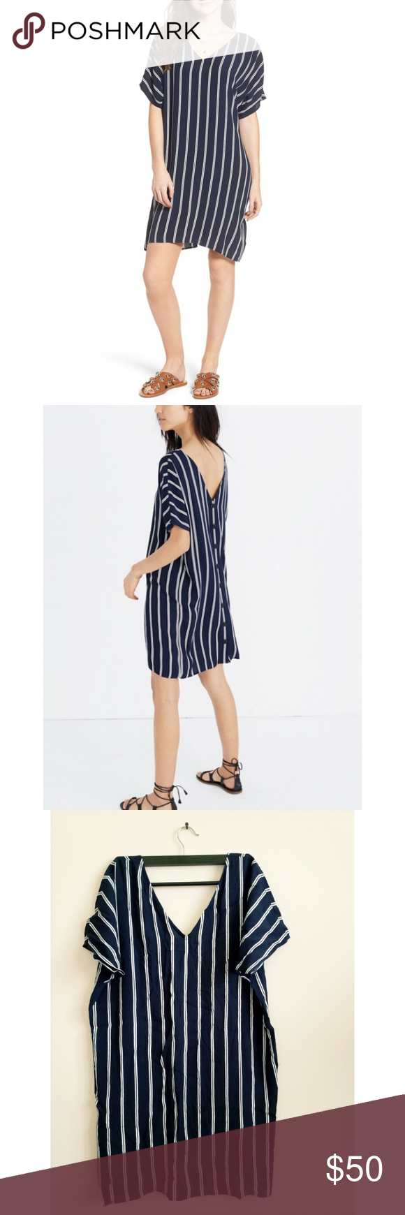 bcfe13264 Madewell Stripe Plaza Dress Made of drapey striped fabric, this  throw-on-and-go dress is a real two-for-one—you can wear it with the  buttons to the front or ...