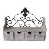 Found it at Wayfair - Fleur de Lis 4 Drawer Shelf