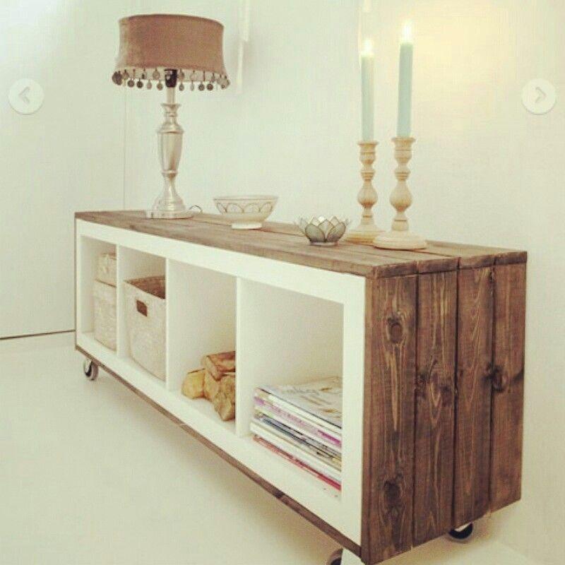 Ikea diy i like the idea of the casters to move these - Reciclar muebles ikea ...