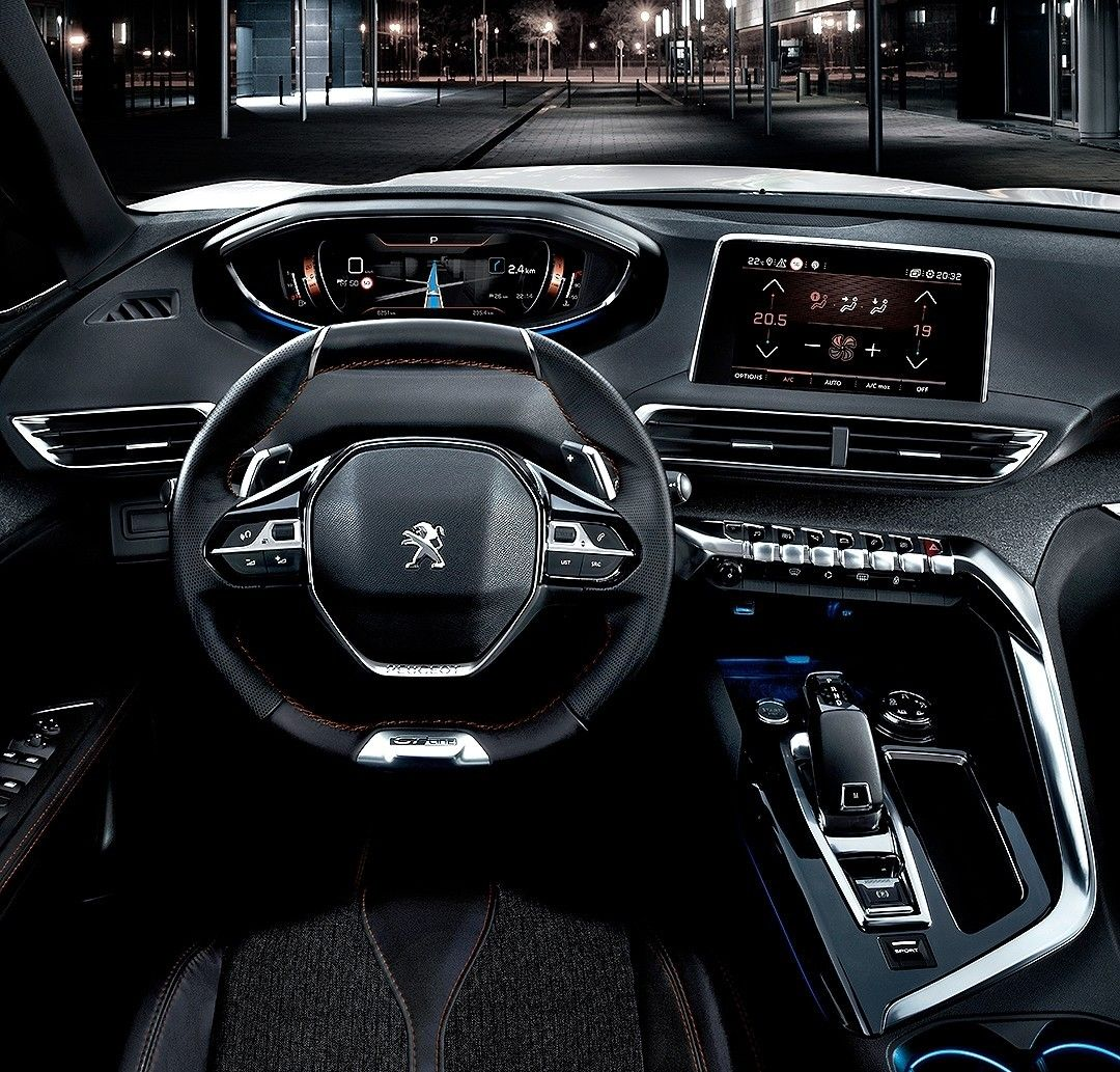 peugeot 5008 gt line 2017 esse o interior da vers o com. Black Bedroom Furniture Sets. Home Design Ideas