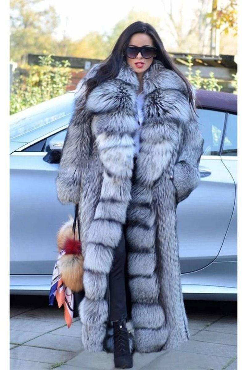 Fursarcar New Real Natrual Golden Fox Fur Jacket Women Winter Long Fur Coat Thick Fashion Luxurious Long Fur Coat Winter Fur Coats Fur Coats Women [ 1200 x 800 Pixel ]