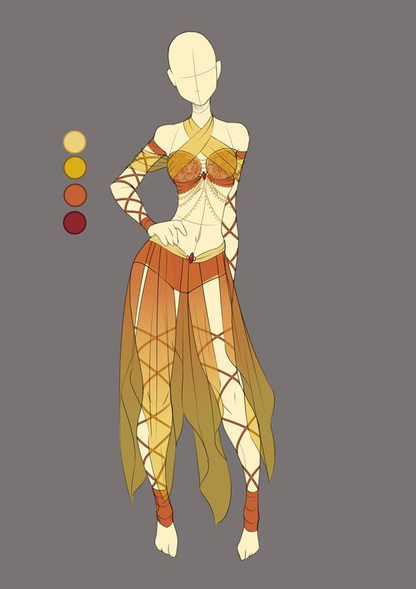 Earthy Tones Belly Dancer Inspired Outfit Art Clothes Fantasy