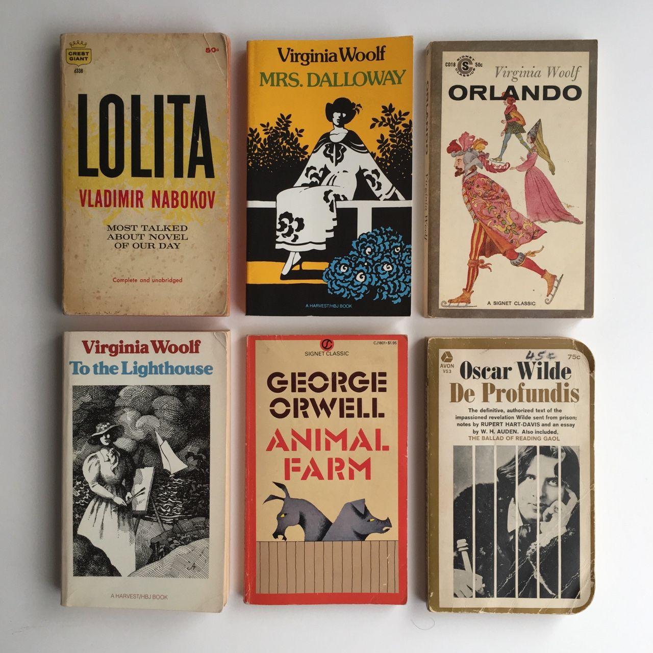 Vintage Paperback Classics By Virginia Woolf George Orwell Vladimir Nabokov Oscar Wilde In 2020 Books Film Books Book Club Books