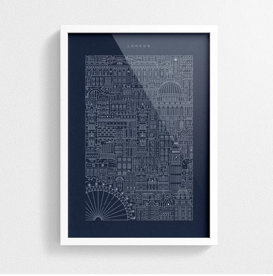 London city blueprint the london blueprint by city wokrs is london city blueprint the london blueprint by city wokrs is inspired by intricate architectural drawings the prussian blue print captures the charming malvernweather Choice Image