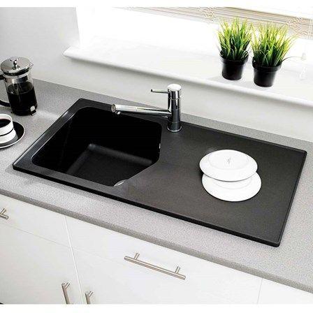 Astracast Dart ROK Granite Single Bowl Kitchen Sink & Waste Kit ...