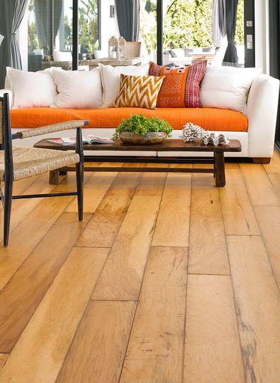 Bella Cera Estate Collection Glessner Wire Brushed Distressed Hardwood Flooring Room Scene