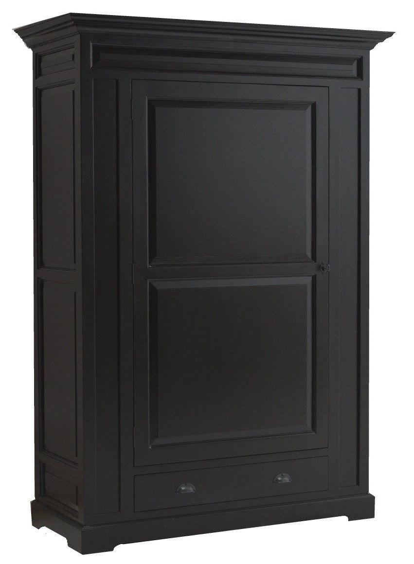 Kabinetskast zwart Beekbergen 100cm grote kast met veel opbergruimte ...
