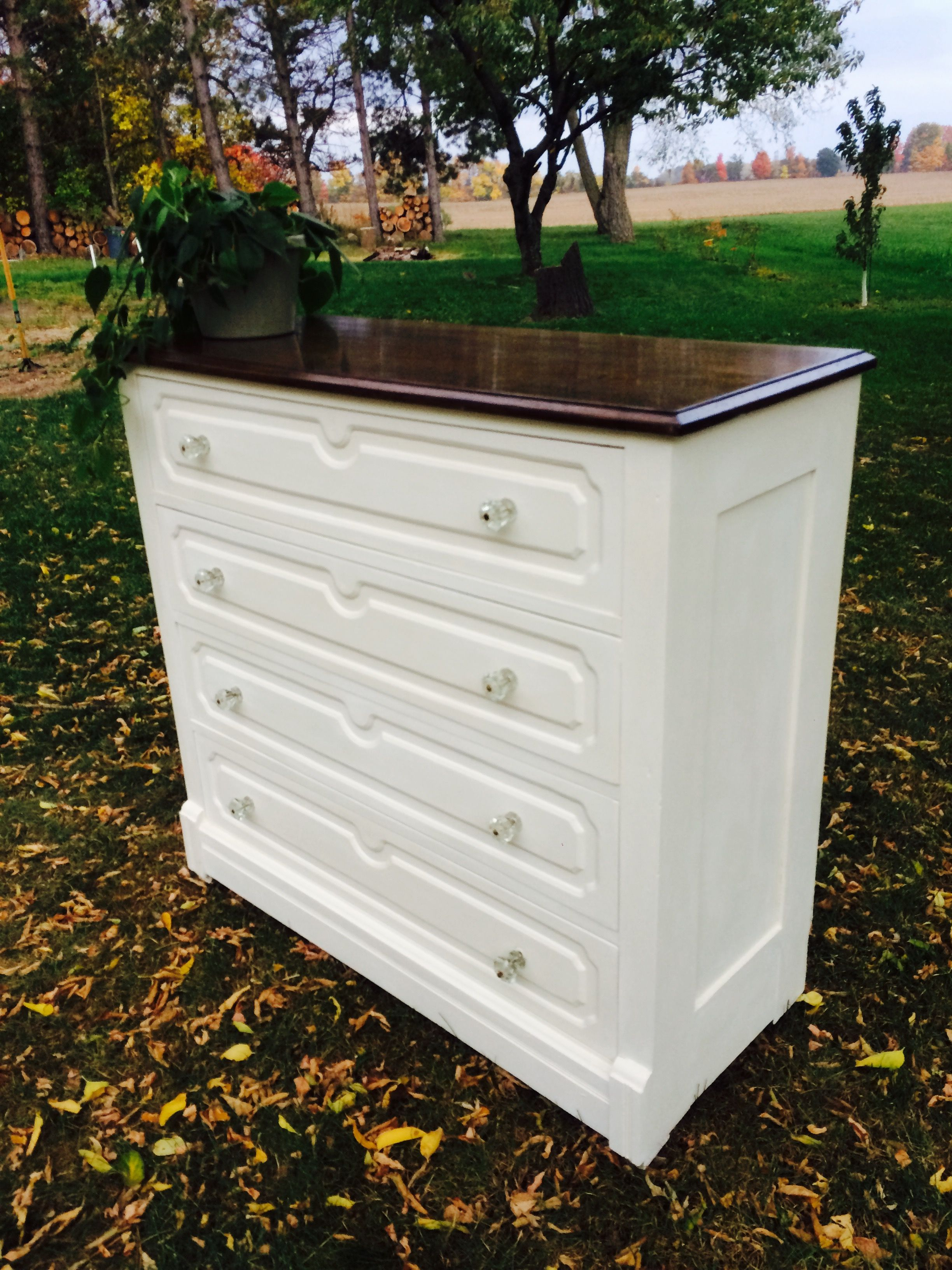 Antique east lake style dresser in annie sloan old white